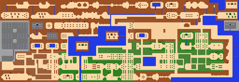Legend of Zelda, The The Overworld Map for NES - Ripped from game ...