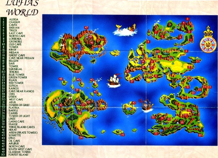 Lufia The Fortress Of Doom Lufia World Map Jpg Dj Oldgames