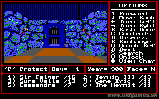 Might and Magic II: Gates to Another World - PC DOS, Start game