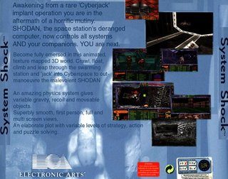 System Shock - CD - Back