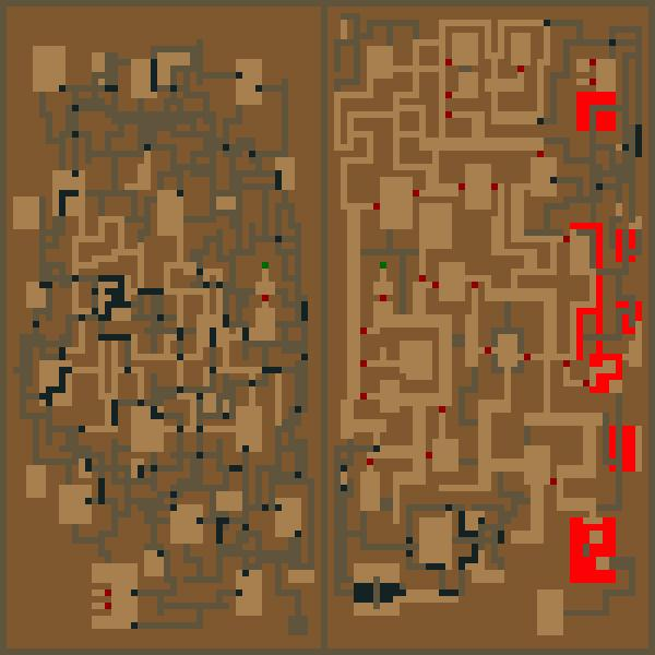 Elder Scrolls: Arena, The Maps of Dungeons in Main Quest