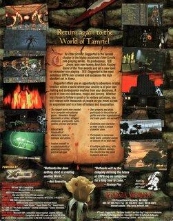 Elder Scrolls: Daggerfall - Box scan (US) - Back