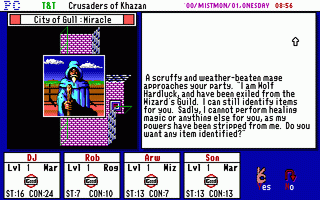 Tunnels & Trolls: Crusaders of Khazan - PC DOS