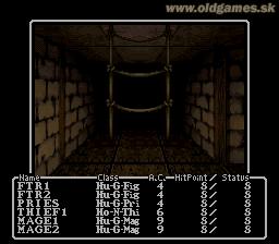 SNES, Wizardry 1 - Maze (en)