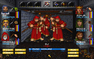 Wizardry 7: Crusaders of the Dark Savant - PC, Orkogre Castle - Munks