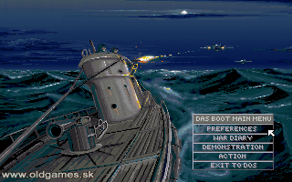 Das Boot: German U-Boat Simulation - PC DOS