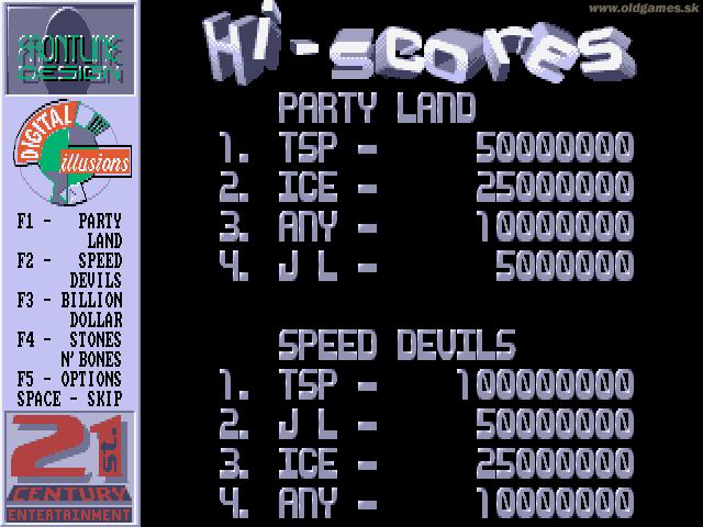 PC DOS, Hi-Scores