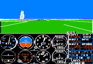 subLOGIC Flight Simulator II - Apple II