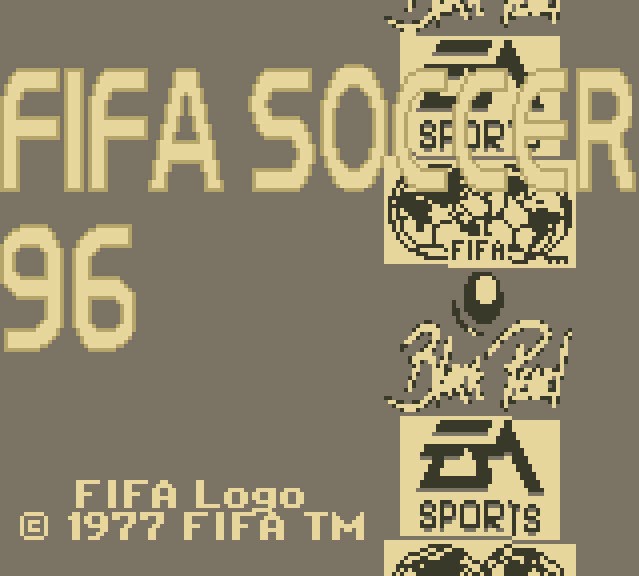 FIFA 96 GameBoy Intro
