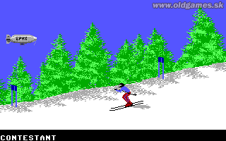 Games, The: Winter Edition - PC (EGA), Downhill Skiing