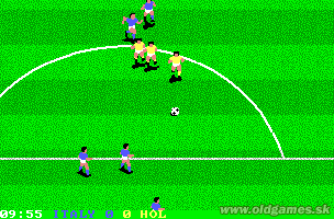 World Class Soccer (Italy 1990) - PC (EGA), Italy vs. Holland