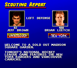 SNES, Scounting report