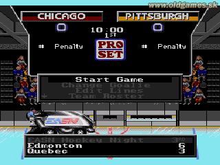 Genesis, Game menu
