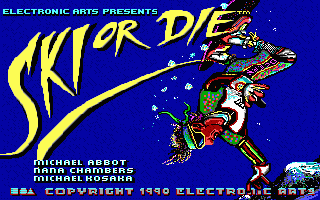 Ski or Die - PC DOS, Title