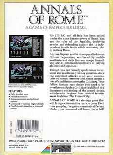 Annals.of.Rome - Box scan - Back