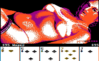 Strip Poker: A Sizzling Game of Chance (Artworx Strip Poker) - DOS (CGA composite monitor), Melissa