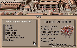 Centurion: Defender of Rome - PC DOS, Rome