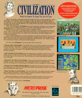 civilization - Box scan - Back