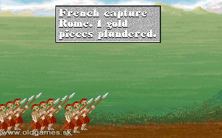 PC DOS, French capture Rome
