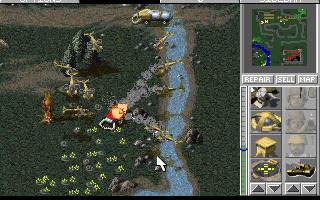 PC, GDI assault on enemy harvester