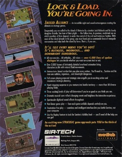 Jagged Alliance - Back cover