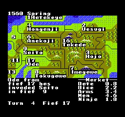 NES - Mapa, o kapku hezčí než v PC verzi