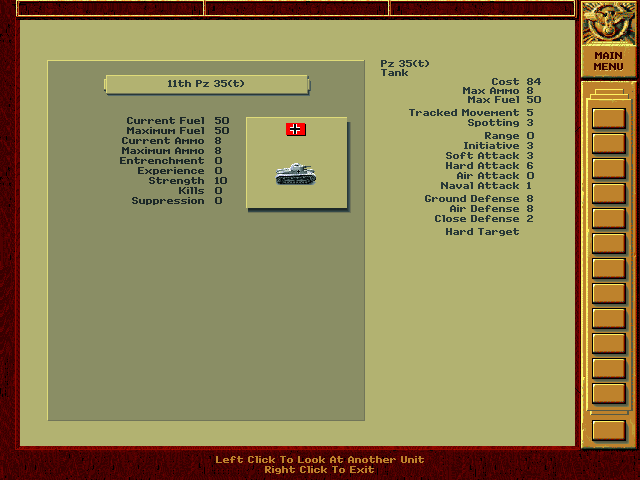 PC, Unit Info