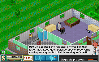 Theme Hospital - PC DOS, Time to relax
