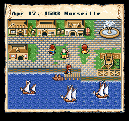Uncharted Waters - SNES, Marseille