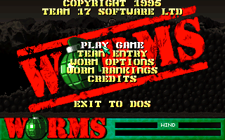 Worms - DOS, Main menu